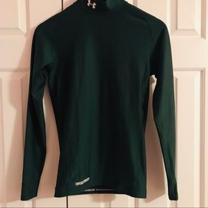 Under Armour Coldgear Mock Compression Top - Green